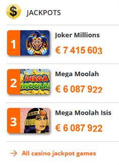 Die besten Jackpot Spiele bei betsson