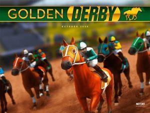 Pferderennen online - mit dem Golden Derby Spielautomaten von NetEnt